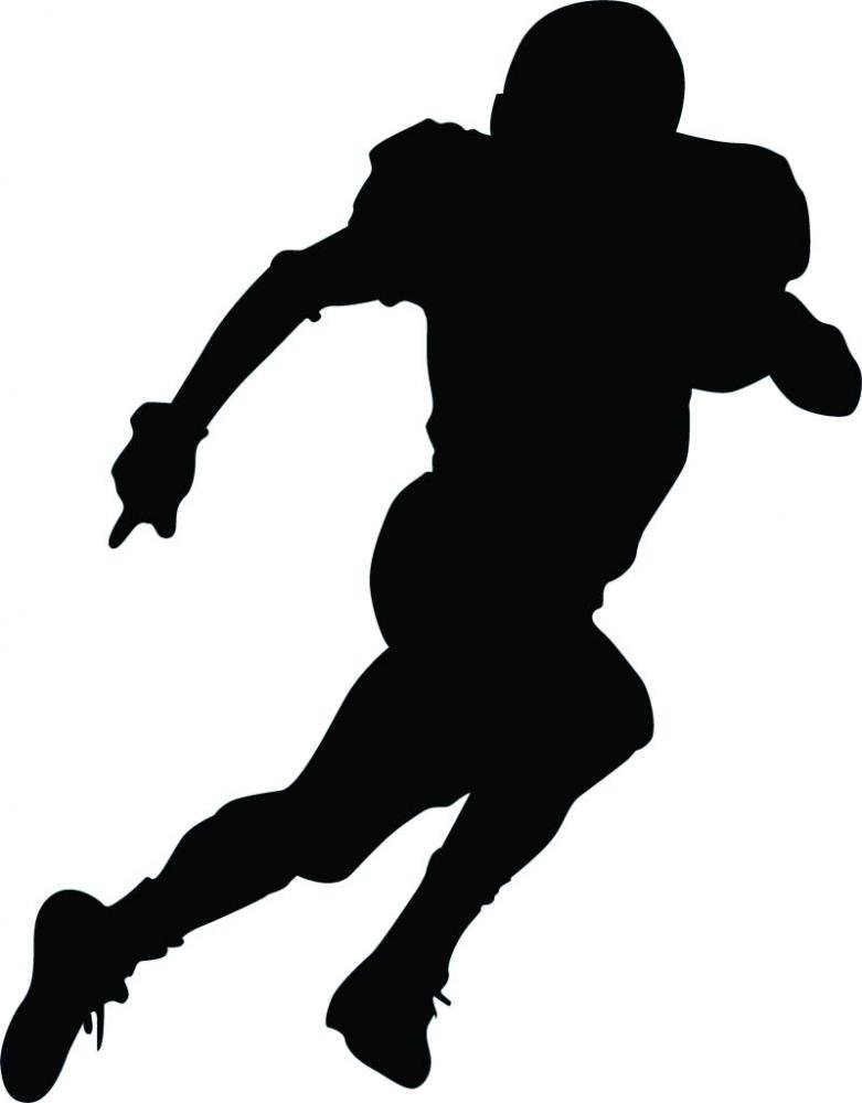 781x1000 Running Football Silhouette Wall Decal by Wallmonkeys