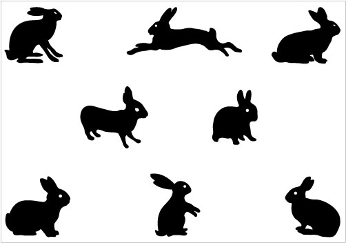 502x352 Rabbit Silhouette Clipart