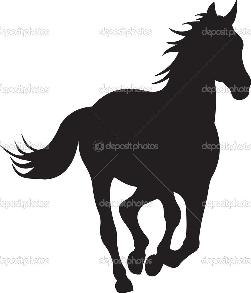 877x1023 Running Horse Silhouette Clipart