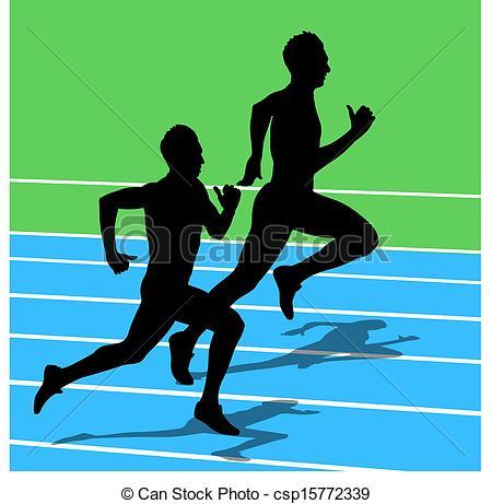 450x461 Running Silhouettes. Vector Illustration. Vectors