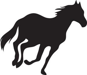 300x259 Running Horse Silhouette Clip Art