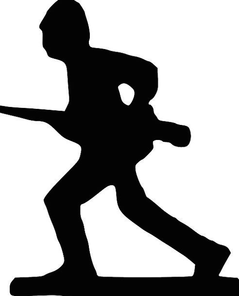 492x609 Soldier, Fighter, Track, War, Conflict, Run, Silhouette, Outline
