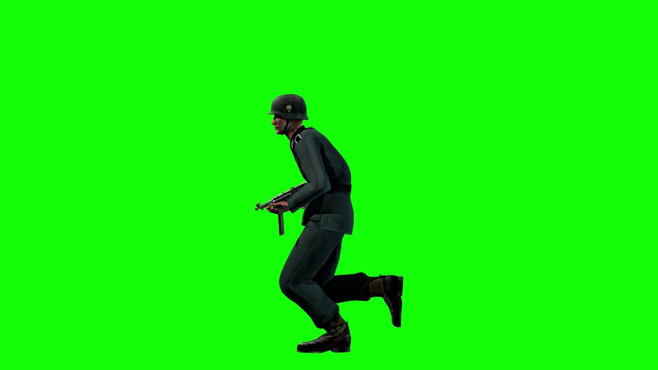 1280x720 Free Game Assets Wwii Private German Soldier Running On Green