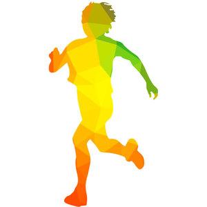 Running Vector Silhouette