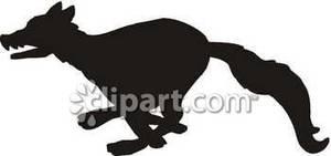 300x141 Running Wolf Silhouette