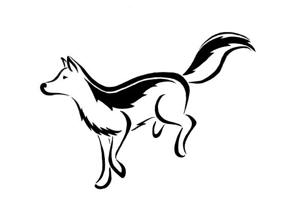 567x425 Running Wolf Tattoo