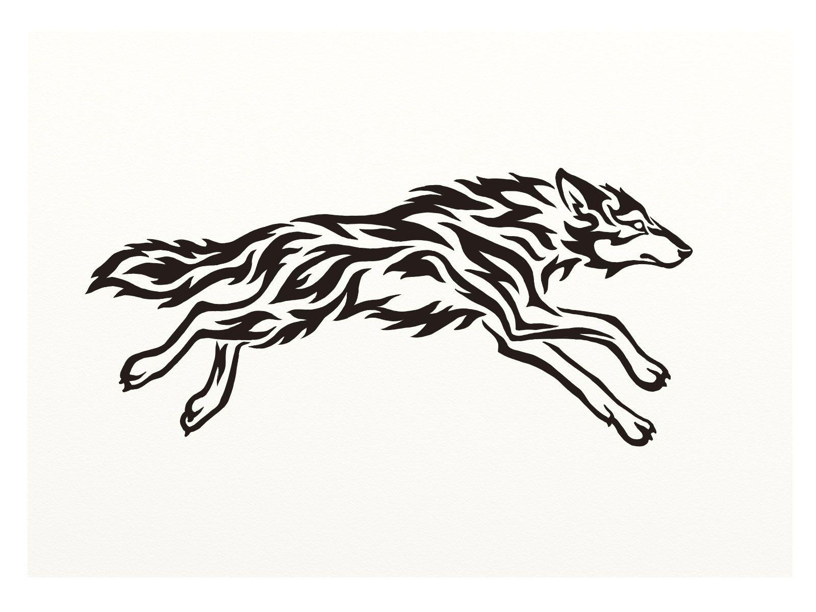 1600x1200 Running Wolf Silhouette