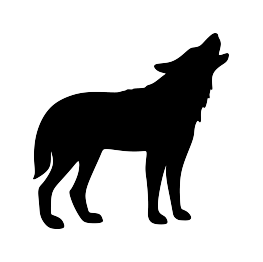 263x262 Howling Wolf Silhouette Clip Art