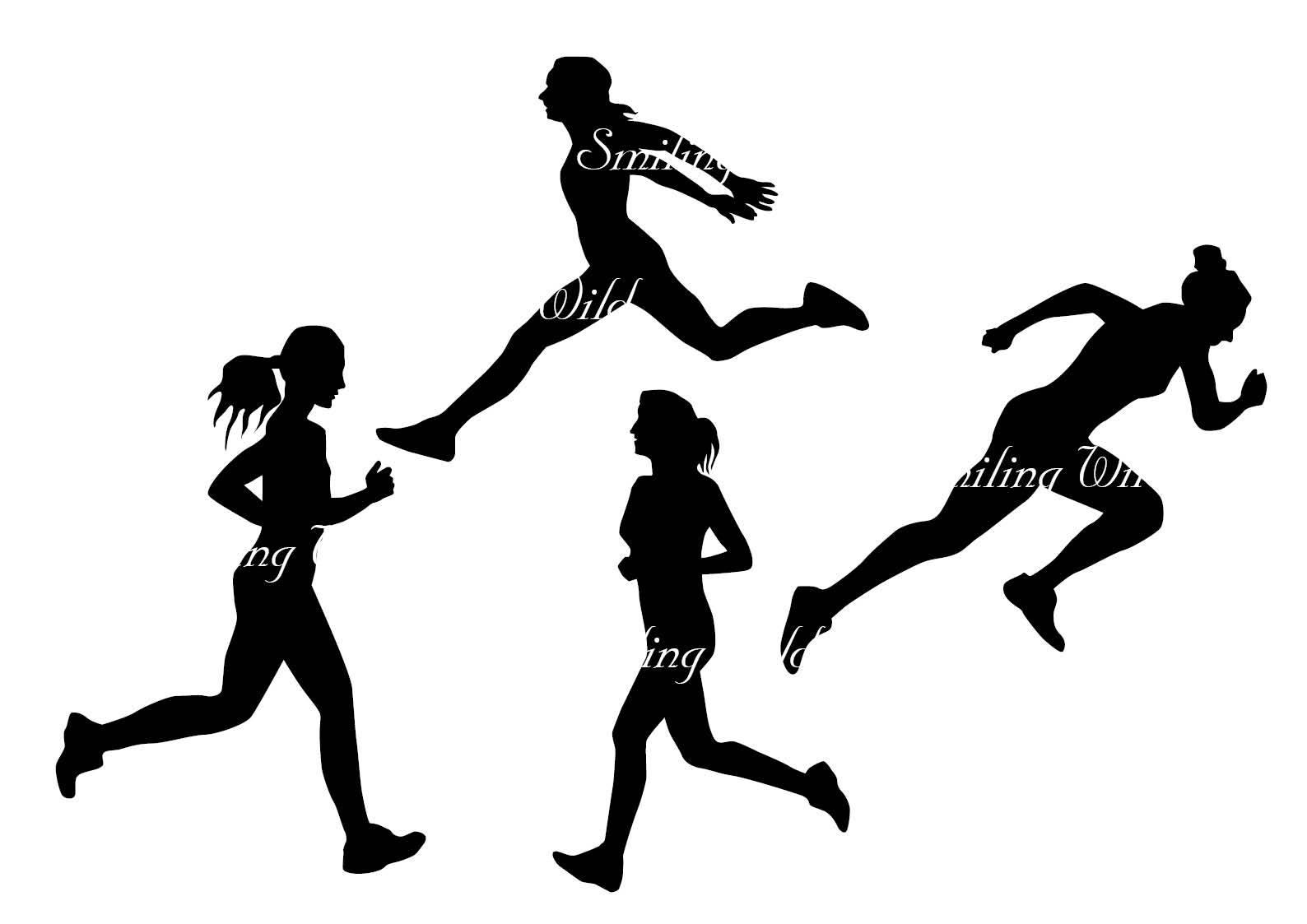 1588x1123 Running Silhouette Svg Clipart Runner Silhouette Marathon Art