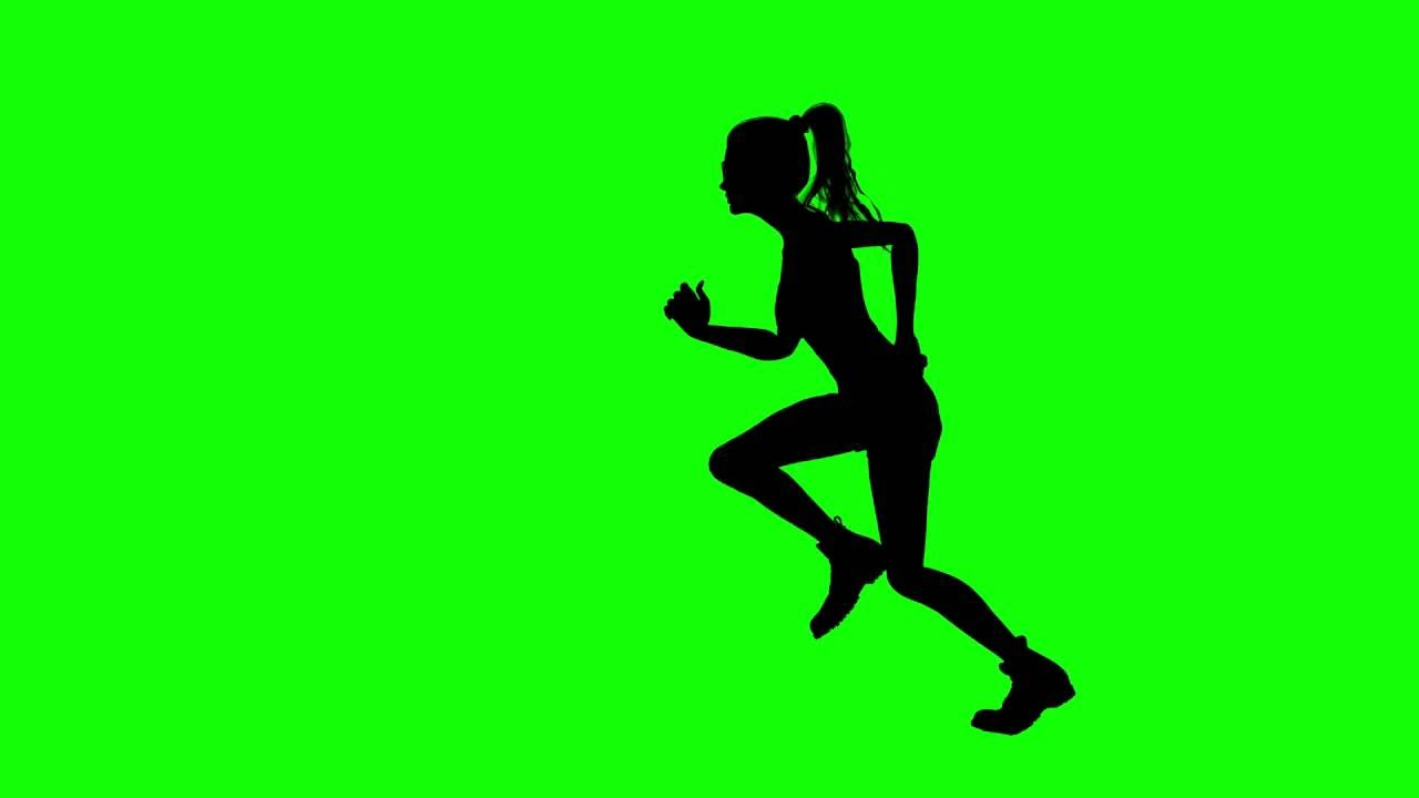 1280x720 Free Hd Video Backgrounds Woman With Ponytail Silhouette Running
