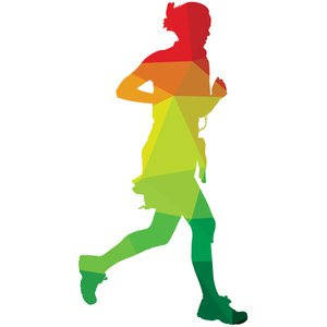 Running Woman Silhouette Vector Free