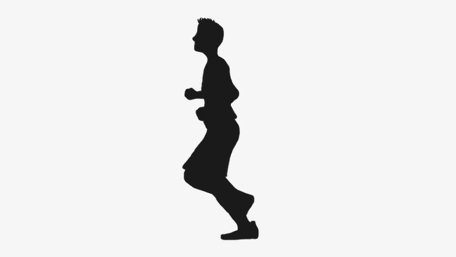 650x366 Running People, Fitness Male Silhouette, Vector Character Png