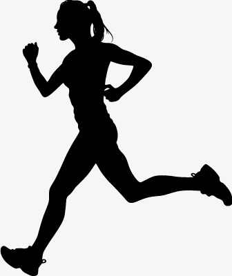 336x400 Running Silhouette Figures Vector Material, Woman, Run, Movement