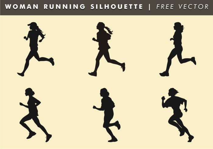 700x490 Woman Running Silhouette Free Vector