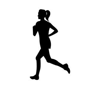 300x300 Woman Running Clipart, Cliparts Of Woman Running Free Download
