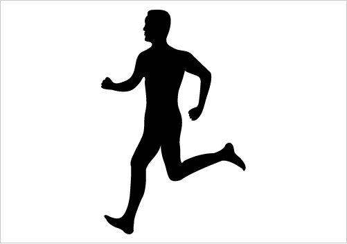 501x352 And Women Running Clipart Silhoutette