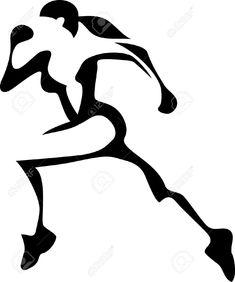 235x282 Female Track Runner Clip Art Girl Running Clip Art