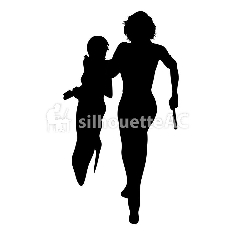 750x750 Free Silhouette Vector 2 People, Icon, Action