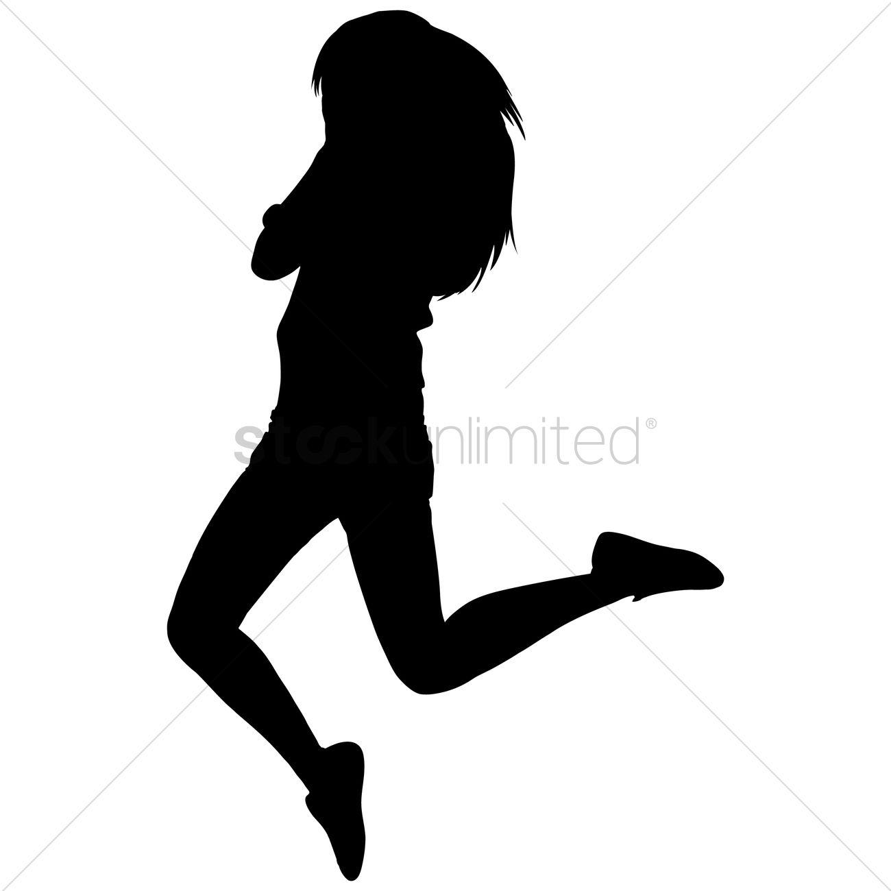 1300x1300 Free Silhouette Of A Joyful Woman Vector Image