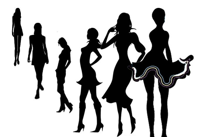 682x468 Solid Silhouette Of Model