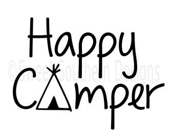 340x270 Happy Camper Rv Svg Instant Download Design For Cricut