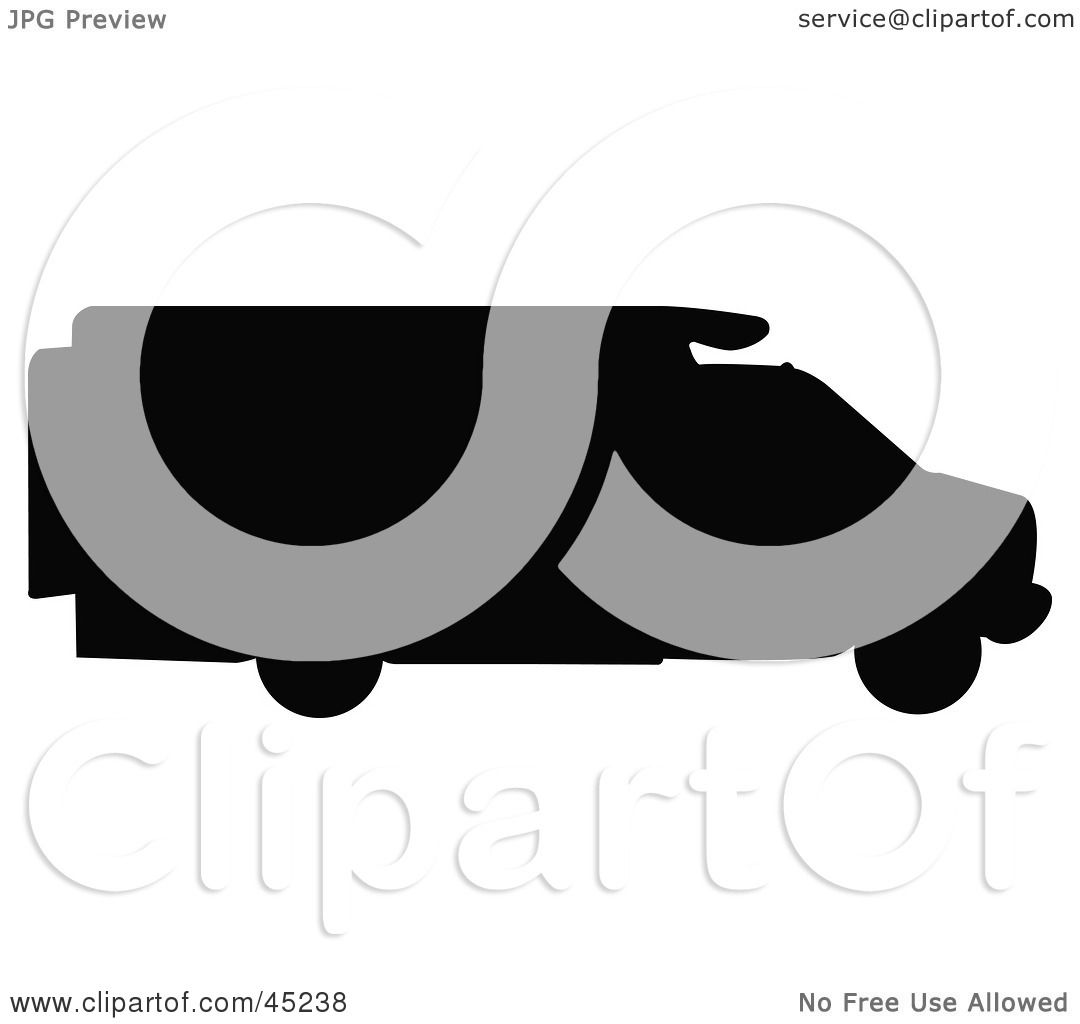 1080x1024 Royalty Free (Rf) Clipart Illustration Of A Profiled Black Rv