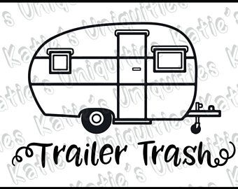 340x270 Trailer Trash Rv Camping Camper Garbage Trash Can Svg Dxf Png
