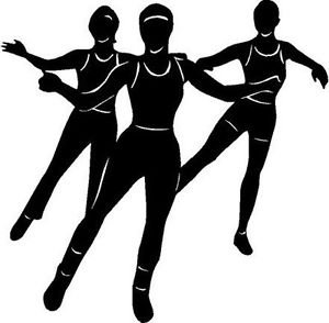 300x294 Aerobics Female Fitness Exercise Vinyl Decal Car Truck Rv Signs