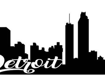 detroit skyline vector real clipart and vector graphics u2022 rh candelalive co uk  detroit skyline outline vector