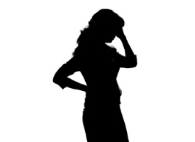 Sad Woman Silhouette