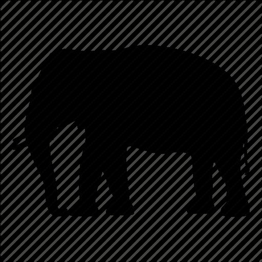 512x512 Africa, Animal, Elephant, India, Safari, Silhouette, Wild Icon