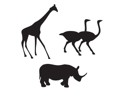 500x366 Animal Silhouette Drawings