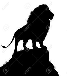 236x267 Lion For My Safari Silhouette Wall Art. Diy Yay