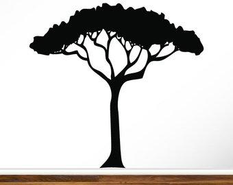 340x270 Safari Tree Decal Etsy