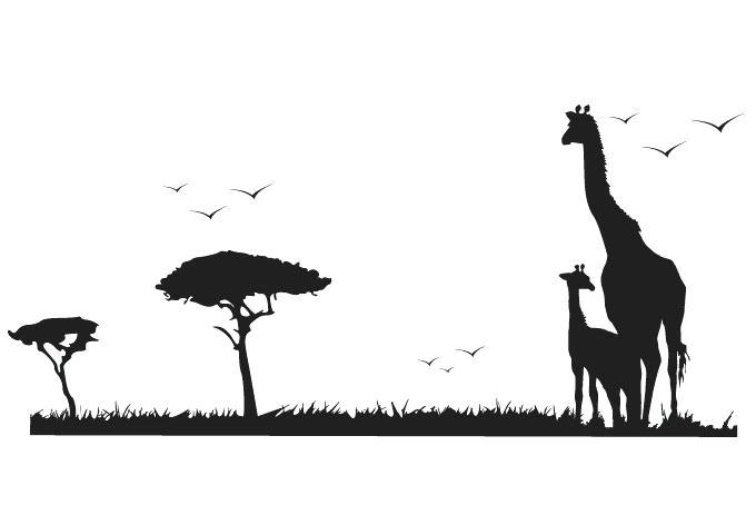 680x472 African Safari Wall Art Safari Animals Wall Decal Giraffe