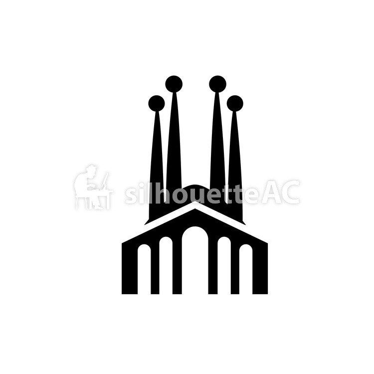 750x750 Silhouettes Gratuites Image, Illustration, Sagrada Familia