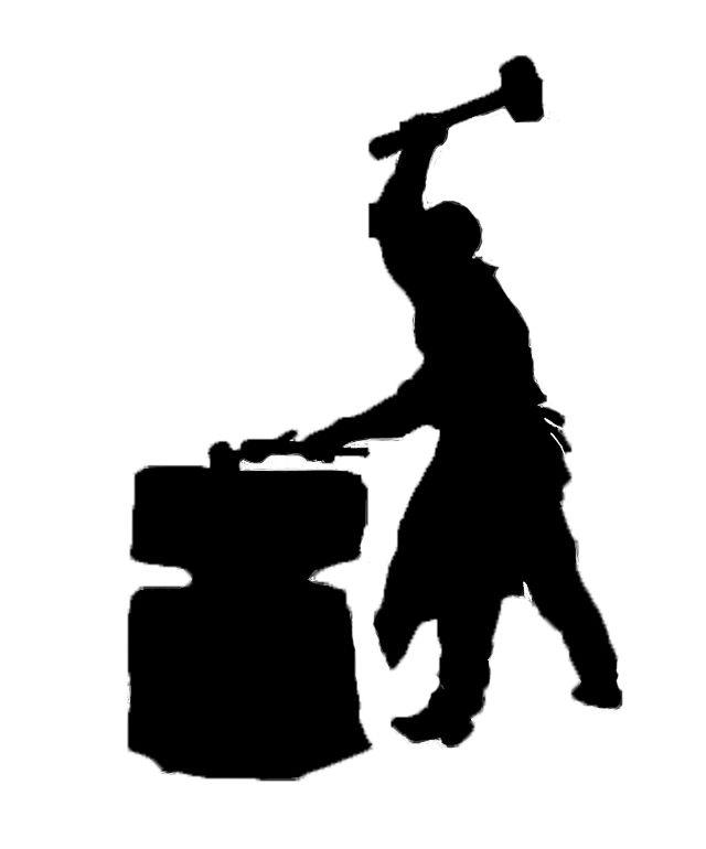 640x770 Blacksmith Silhouette Clip Art