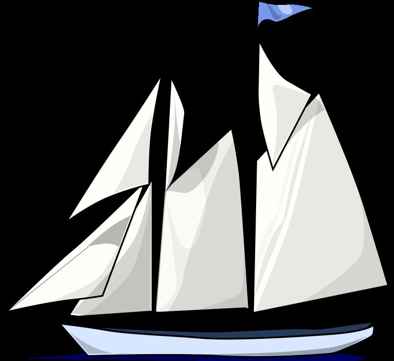 800x732 Black Sailboat Silhouette