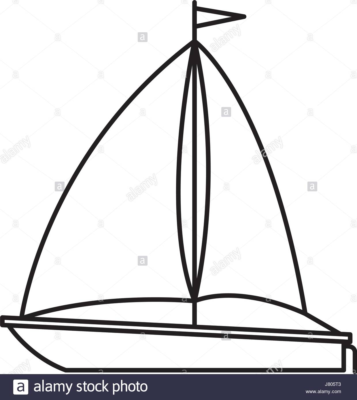 1239x1390 Black Silhouette Of Sailboat Icon Stock Vector Art Amp Illustration