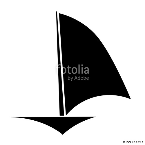 500x500 Sailboat Black Silhouette Vector Stock Image And Royalty Free