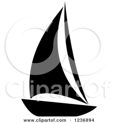 450x470 Sailboat Clipart Silhouette