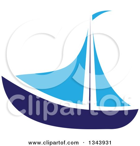 450x470 Swirly Waves Sailboat Silhouette Clipart Collection