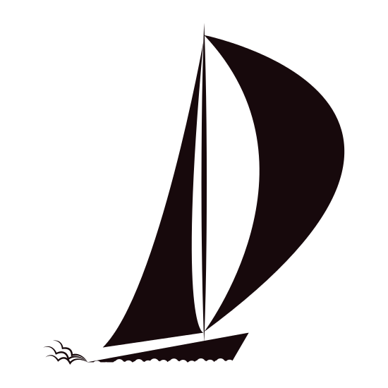 550x550 Isolated Sailboat Silhouette