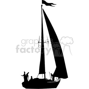 300x300 Royalty Free Sailboat Silhouette 394865 Vector Clip Art Image