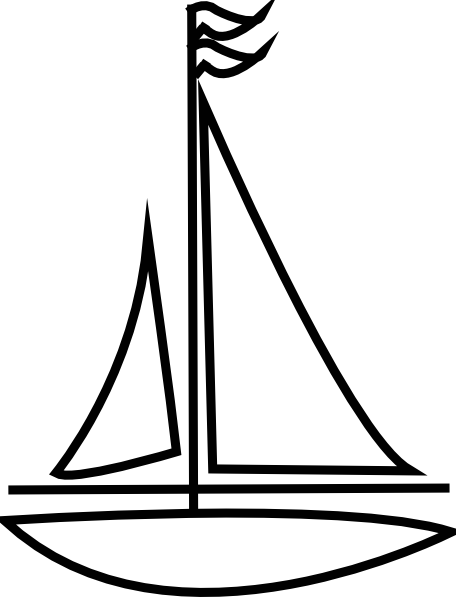 456x597 Sailing Boat Clipart Outline