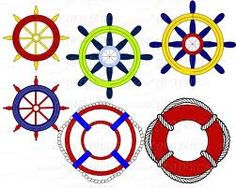 236x188 Ship Wheel Silhouette Ships Wheel Silhouette Vinyl Sticker