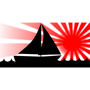 300x300 Sailboat Under Red Sun Clipart, Cliparts Of Sailboat Under Red Sun