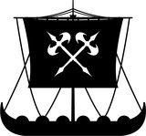 160x149 Medieval Sailing Ship In Silhouette Stock Image And Royalty Free