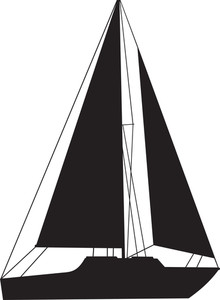 220x300 Sail Boat Silhouette Royalty Free Stock Image