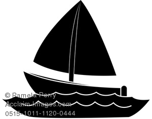 300x235 Art Image Of A Silhouette Of A Boat On Water
